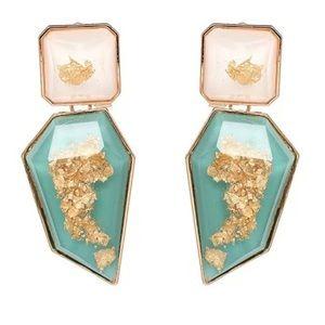 🌈2/$30 New Zara Gold Flecked Faceted Earrings